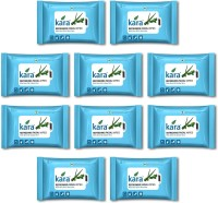 Kara Refreshing Facial Wipes - Aloe Vera & Mint (10 Wipes Per Pack)-Pack Of 10 (Pack Of 100)