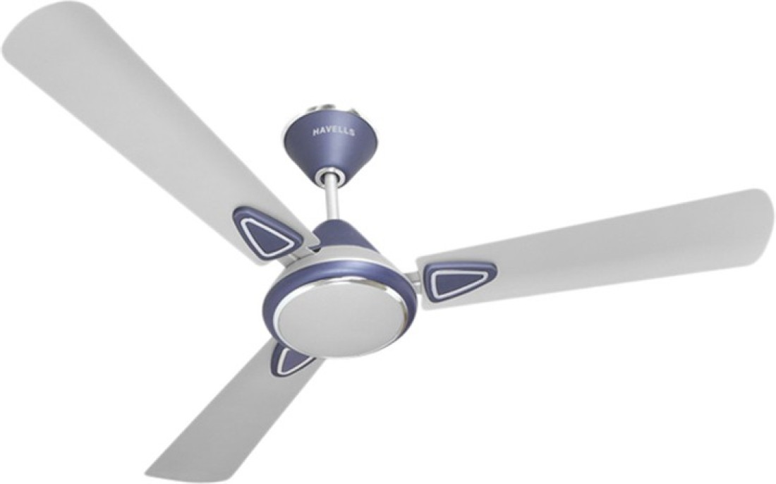 Havells Fusion Silver Blue 600mm 3 Blade Ceiling Fan Price ...
