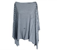 Dria Cover Nursing Cover Feeding Cloak (Grey, Black)