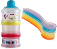 Farlin Baby Milk Powder Container With Baby Rainbow Spoon  - Polypropylene (Multicolor)