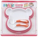 Farlin Anti-slip Feeding Set  - PVC - Pink