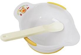 Rikang Baby Eating Practicing Bowl with Spoon  - BPA Free PP