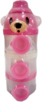 Baby's Clubb Milk Powder Container Side Open  - Plastic (Pink, White)