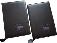 Renown Faux Leather Leather Conference File Folders (Set Of 2, Black) - FAFEK6VU9GGWT3JC