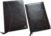Renown Faux Leather Leather Conference File Folders (Set Of 2, Black)