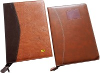 Renown Faux Leather Leather Conference File Folders (Set Of 2, Multi Colour)