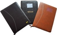 Renown Faux Leather Leather Conference File Folders (Set Of 3, Multi Colour)