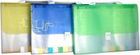 Aahum Sales Polypropylene Expanding File Folder (set Of 3) (Set Of 3, Assorted)