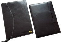 Renown Faux Leather Leather Conference File Folders (Set Of 2, Black) - FAFEK6VUZCTFZPSM
