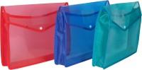 Aahum Sales Polypropylene File Folder Set Of 3 (Set Of 3, Assorted)