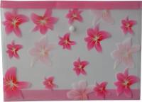 Polen Button Series Plastic Document Folder (A4 Compatible) (Set Of 12, Pink)