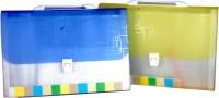 Aahum Sales Polypropylene Expanding File Folder Set Of 2 (Set Of 2, Assorted)
