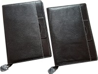 Renown Faux Leather Leather Conference File Folders (Set Of 2, Black) - FAFEK6VUJVZF8UYM