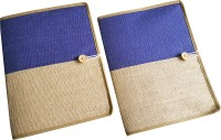 Renown Jute Made Jute Conference File Folder (Set Of 2, Blue)