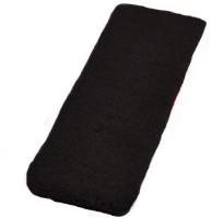 Futaba Fashionable Soft Stretch Sweatband Elastic Head Fitness Band (Black, Pack Of 1)