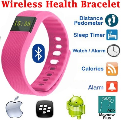 Everything Imported Fit Bit Smartwatch (Pink Strap)