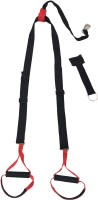 Sahni Sports Home Gym Suspension Trainer System Fitness Band (Black, Red, Pack Of 2)