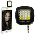 Burfa Portable Mini 16 LED Selfie Flash Light For All Smartphones, Apple Phones Black
