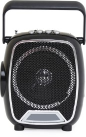 SoRoo Multimedia FM Radio Speaker with USB and Torch Rechargable - Simply Black FM Radio