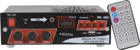 Bexton Wired Speaker with USB 2.0 (Black) FM Radio