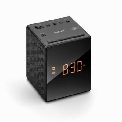 new sony icf c1 alarm clock with fm am radio black color ebay. Black Bedroom Furniture Sets. Home Design Ideas