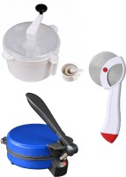 ECO SHOPEE COMBO OF NATIONAL BLUE DETACHABLE ROTIMAKER, DOUGH MAKER AND PIZZA CUTTER Roti/Khakhra Maker (Blue)