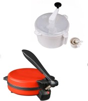 ECO SHOPEE COMBO OF EAGLE DETACHABLE RED Roti- MAKER WITH DOUGH MAKER Roti/Khakhra Maker (Red)