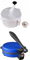 ECO SHOPEE COMBO OF NATIONAL DETACHABLE BLUE ROTI MAKER WITH DOUGH MAKER Roti/Khakhra Maker (Blue)