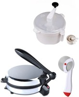 ECO SHOPEE COMBO OF DETACHABLE ROTI MAKER, DOUGH MAKER AND PIZZACUTTER Roti/Khakhra Maker (Silver)