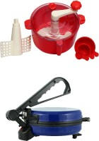 ECO SHOPEE COMBO OF EAGLE BLUE ROTI MAKER WITH RED DOUGH MAKER Roti/Khakhra Maker (Blue)