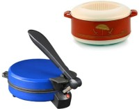 ECO SHOPEE COMBO OF DETACHABLE BLUE ROTI MAKER WITH CASSEROLE Roti/Khakhra Maker (Blue)