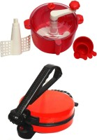 ECO SHOPEE COMBO OF RED ROTIMAKER WITH RED DOUGH MAKER Roti/Khakhra Maker (Red)