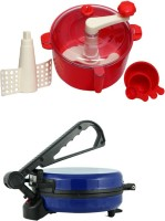 ECO SHOPEE COMBO OF BLUE ROTIMAKER WITH RED DOUGH MAKER Roti/Khakhra Maker (Blue)