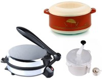 ECO SHOPEE COMBO OF NATIONAL DETACHABLE Roti- MAKER, CASSEROLE AND DOUGH MAKER Roti/Khakhra Maker (Silver)