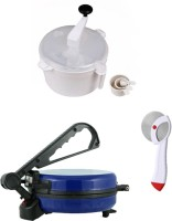 ECO SHOPEE COMBO OF NATIONAL BLUE Roti- MAKER, DOUGH MAKER AND PIZZA CUTTER Roti/Khakhra Maker (Blue)