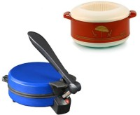 ECO SHOPEE COMBO OF NATIONAL BLUE DETACHABLE Roti- MAKER WITH CASSEROLE Roti/Khakhra Maker (Blue)