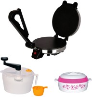 Libra Libra Roti Maker Combo Of Dough Maker, Casserole & Demo CD 1000 W Food Processor (Silver, Black)