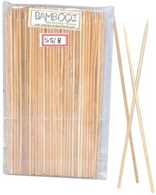 Bamboooz Skewers Disposable Bamboo Roast Fork Set