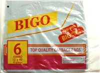 Bigo Black Bin Liner J Size 30 X 40 Inches (2x6 = 12 Bags In 2 Packets) Jumbo 19 L Garbage Bag (Pack Of 6)