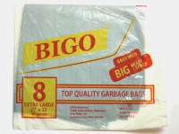 Bigo Black Bin Liner EXL Size 27 X 32 Inches (2x8 = 16 Bags In 2 Packets) Extra Large 14 L Garbage Bag (Pack Of 8)