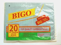 Bigo Black Bin Liner SM Size 20 X 26 Inches (2x20 = 40 Bags In 2 Packets) Special Medium 8.5 L Garbage Bag (Pack Of 40)