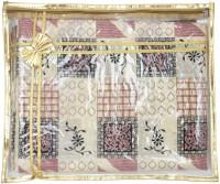 Mpkart Saree Bag Mpkart Golden Pack Of 24 Saree Cover Zip Synthetic Golden Medium Utility Bag CM27 Gold