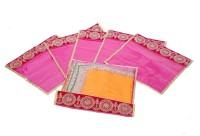Kuber Industries Single Packing Bandhani Saree Cover Set Of 6 Pcs Pink