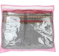 Mpkart Saree Bag Mpkart Pink Pack Of 12 Saree Cover Zip Synthetic Pink Medium Utility Bag CM28 Pink