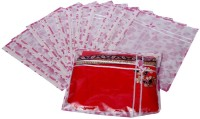 Kuber Industries Designer Printed Non Wooven Saree Cover Set Of 12 Pcs (Pink) MKU006688 Pink