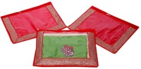 Kuber Industries Single Packing Saree Cover Set Of 3 Pcs (Designer Lace) Red