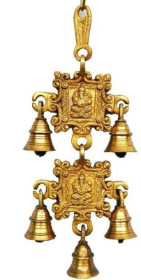 Aakrati Brass Decorative Bell Yellow, Pack of 1