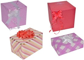 Star Shades of Pink Combo Of 4 Designs Italian Sheets Gift Wrapper