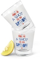 Happily Unmarried Birthday Party Shot Glass (60 Ml, White, Pack Of 2)