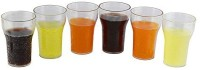 THW Unbreakable Polycarbonate Drinking Glass Set PCGLASS-COKE (300 Ml, Clear, Pack Of 6)